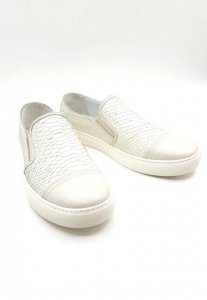 Spy Henry Lau Leather Classic Plimsolls Shoes White PH812355...