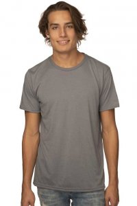 Royal Apparel Unisex Performance Poly Short Sleeved T Shirt Grey 26550PWA