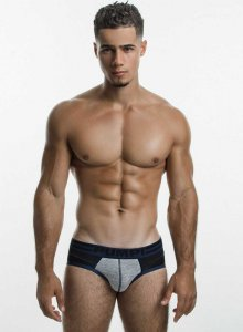 Pump! Shadow Brief Underwear Black/Grey/Midnight Blue 12039