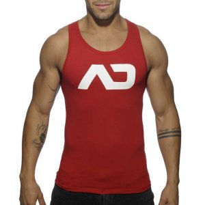 Addicted Basic AD Tank Top T Shirt Red AD457