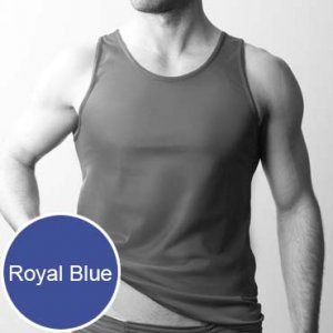 Players Nylon Tricot Tank Top T Shirt Royal Blue
