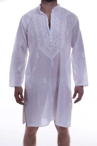 L'Homme Invisible Tajae Nightshirt Loungewear White TAJAE