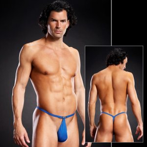 Blue Line Performance Microfiber Pouch G String Underwear Royal Blue BLM021