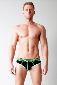 Timoteo Proton Glow Super Low Brief Underwear Black UXC1001