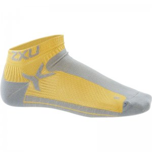 2XU Peformance Low Rise Socks Yellow/Grey MQ1903E