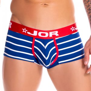 Jor Atlantic Stripe Boxer Brief Underwear Blue 0838