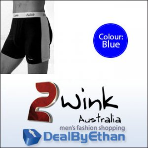 2wink Australia Solid Longbox Long Boxer Brief Underwear Blue