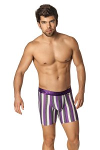 Xtremen Microfiber Boxer Brief Underwear Purple 51331