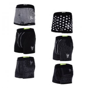 Rock N Fresh [6 Pack] Black Edition Boxer Brief Underwear