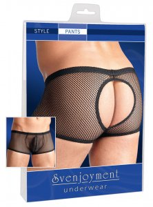 Svenjoyment Open Back Mesh Boxer Brief Underwear Black 2131854