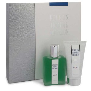 Caron Pour Homme Sport Eau DE Toilette Spray 2.5 oz / 73.93 mL + Shower Gel 2.5 oz / 73.93 mL Gift Set Men's Fragrances 543517