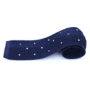 Charles Owo Knitted Tie Blue 1341535