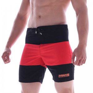 MIIW Physique Two Tone Boardshorts Beachwear Black/Red 4706-...