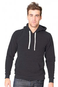 Royal Apparel Unisex Organic RPET Fleece Pullover Hoody Long Sleeved Sweater Heather Coal 96055