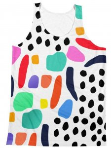 Polly & Cracker Dots Sublimation Tank Top T Shirt PC42