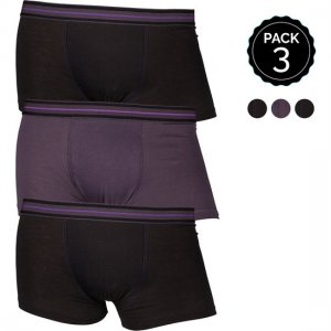 Marginal [3 Pack] Boxer Brief Underwear Black & Grey T012-3