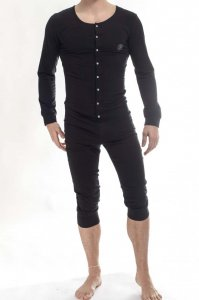 L'Homme Invisible Hypnos Onesie Sleepsuit Bodysuit Black HW1...