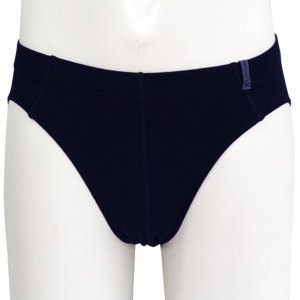 Minerva Micro Cotton Slip Inside Rubber Brief Underwear Navy 21040