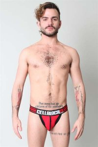 CellBlock 13 Ambush Jock Strap Underwear Red CBU056