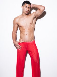 N2N Bodywear Pride Sheer Pants Red GP2