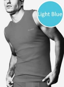 Nukleus Fruit Blueberry Elan Muscle Top T Shirt Light Blue NFRT-9075