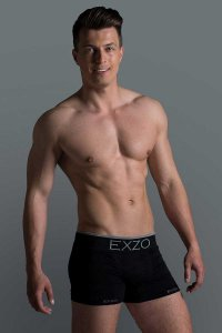 Exzo Microfiber Boxer Brief Underwear Black