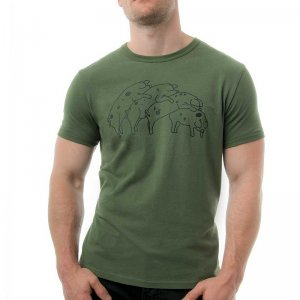 Nasty Pig Humping Pigs Short Sleeved T Shirt Green 1243