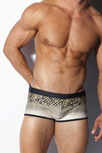 Alexander Cobb Leopard Square Cut Trunk Swimwear 9CSWT-21