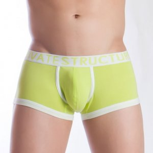 Private Structure Spectrum Contour Trunk Boxer Brief Underwear Lime Green 99-MU-1370