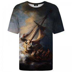 Mr. Gugu & Miss Go Christ In The Storm On The Lake Of Galilee Unisex Short Sleeved T Shirt TSH1254