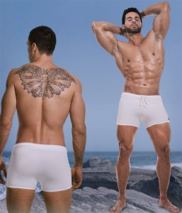 Falocco Collection Solid Trunk Swimwear White Heat 590