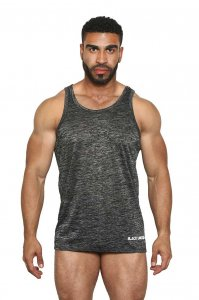 Black Unicorn Sheer & Sexy Burn Out Tank Top T Shirt Grey BU...