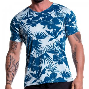 Jor PARADISE Short Sleeved T Shirt Blue 0782