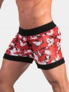 Barcode Berlin Fedor Shorts Red/White/Black 91462-303