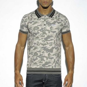 ES Collection Sailor Polo Short Sleeved Shirt Camouflage POLO13