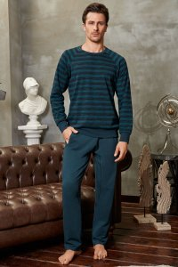 Doreanse Stripe Sweater & Pants Set Loungewear 4589