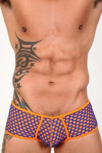 Pistol Pete Sway Midcut Square Cut Trunk Swimwear Orange MC574-894