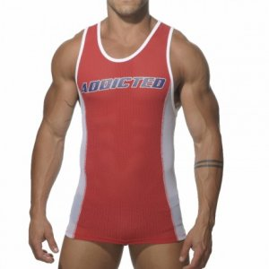 Addicted Sport Mesh Tank Top T Shirt Red AD200