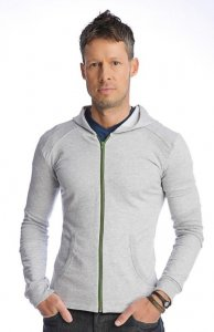 4-rth Crossover Hoodie Sweater Heather Grey CH-HG
