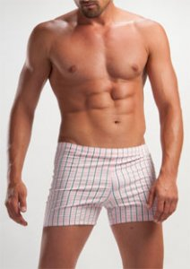 Geronimo Stripes Square Cut Trunk Swimwear Pink 1207B8