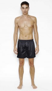 Menagerie Solid Loose Boxer Shorts Underwear Black
