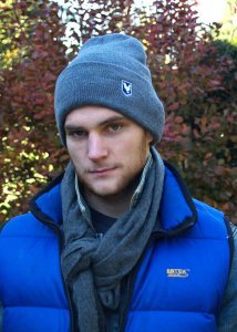Ajaxx63 Cook Crest Beanie Hat Royal Blue/Athletic Heather KB...