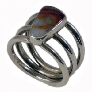 Metro Mod Man Kentucky Agate Triple Band Red/White US 13 UK ...