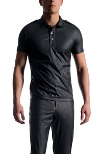 MANstore M104 Polo Short Sleeved Shirt Black 2-08179/8000