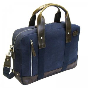 Licence 71195 College WaxC Briefcase Bag Navy LBF10923-BL