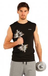 Litex Solid Muscle Top T Shirt Black 51255