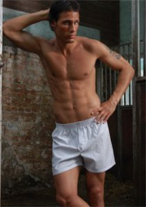 Geronimo Loose Boxer Shorts Underwear White B400
