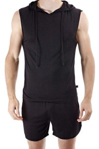 L'Homme Invisible Play Hooded Sleeveless Sweater Black SP128...