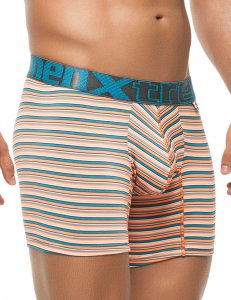 Xtremen Stripe Microfiber Boxer Brief Underwear Orange 51386