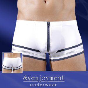 Svenjoyment Sailor Zipper Boxer Brief Underwear White 2131323
